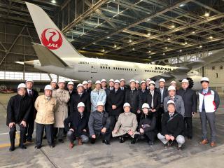 2019年2月例会(企業見学会:JALエンジニアリング成田航空機整備センター)